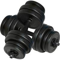 vidaXL 2x Manubrio 30 kg Palestra Attrezzi Fitness Bilanciere con Dischi Peso