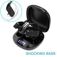 Auricolari Bluetooth V5.0 con Deep Bass Stereo Sound, Cancellazione del Rumore & Charging Case da 800mAh (fino a 40 ore di Playtime), Cuffie Bluetooth Senza Fili per sport ed attività ricreative.