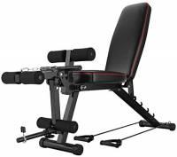BYCDD Panca Pesi Pieghevole, Regolabile Bench Press Esercizio Utility Bench Panca Fitness Allenamento di Forza per la casa Gym,Black_48X118CM