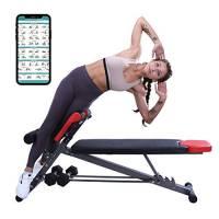 Panca multifunzione per allenamento completo del corpo, per iperestensioni lombari e sedia romana, panca regolabile per addominali/sit up, panca declinata, panca piana