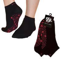 Pilates, Yoga, Arti marziali, fitness, danza, Barre. Antiscivolo / antiscivolo, Cadute Prevenzione, Grip Socks, Sox (Nero / Rosso)