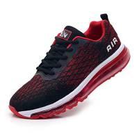 TORISKY Scarpe Uomo Donna Scarpe da Ginnastica Air Sneakers Running Sportive Casual Interior all'Aperto(8998-BK/Red40)