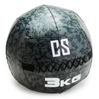 Capital Sports Restricamo Wall Ball Palla Medica per Allenamento Palestra Core Training, Cross Training, (Diametro 35 cm, 3 kg, Antiurto, PVC, Doppie Cuciture) Mimetica