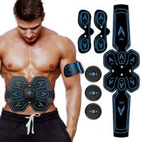 BCHE Elettrostimolatore Muscolare, EMS Suscolo Addominale, Addominali Attrezzi ABS, Addome/Braccio/Gambe/Waist/Glutei Massaggi-Attrezzi, USB Ricaricabile-Uomo/Donna