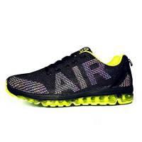 Uomo Donna Scarpe da Ginnastica Unisex Corsa Sportive Running Sneakers Casual all'Aperto(A61-Green43)