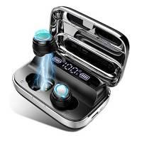 Cuffie Bluetooth Sport, Auricolari Bluetooth Senza Fili con 125 Ore di Ascolto, Ricarica USB-C Prova, IP7 Impermeabile, Bassi Potenziati Cuffie Wireless Touch Controllo, Microfoni Integrati