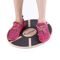 "Sportneer Wooden Balance Board, 15.7"" Exercise Balance & Stability Trainer(Nero)"