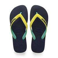 Havaianas Top Mix, Infradito Unisex Adulto, Multicolore [Navy/Neon Yellow 0821], 43/44 EU