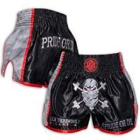 Pride or Die Muay Thai Shorts RAW Trainig Camp Urban Camo – Pantaloni da boxe da uomo con tessuto a rete, Uomo, PODMTS-RAWTCU, Nero , M