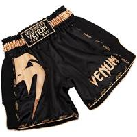 VENUM Giant, Pantaloncini da Muay Thai Uomo, Nero/Oro, M