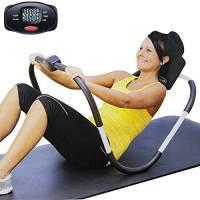 Fitness Attrezzi Allenamento Addominali Crunch Attrezzo Esercizi Palestra Addome da Casa con Display Digitale Calorie Ripetizioni e Tempo