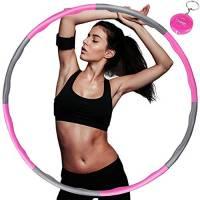 Synchain Hula Hoops, Professionale Hula Hoop Fitness per Adulti per dimagrire, Il Hoola Hoop in Schiuma è di Circa 1 kg, la Larghezza è Regolabile (19-35 Pollici)
