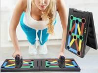 Surplex 9 in 1 Push Up Rack Board Fitness Gear Power Press Push up Staffa System Workout Training Gym Esercizio Rack Pieghevole Multifunzione Portatile per Body Building Allenamento A Casa Fitness