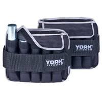 York Fitness 2 x 5kg Cavigliere con Pesi