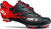 SIDI Scarpe MTB Tiger Matt Carbon SRS Matt Nero-Rosso (EU 44, Rosso)