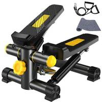 VIN Vinteky Stepper Fitness con Bande di Allenamento Display LED (36.5 * 22 * 46CM) (A)