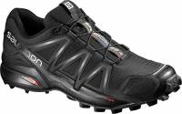 Salomon Speedcross 4, Scarpe da Trail Running Uomo, Nero (Black/Black/Black Metallic), 43 1/3 EU