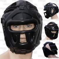 Farabi Sports, caschetto da allenamento per boxe, MMA, Muay Thai, casco integrale di protezione per la testa da allenamento per boxe, arti marziali, kickboxing, Jiu Jitsu, karate, taekwondo, bjj, Black, L