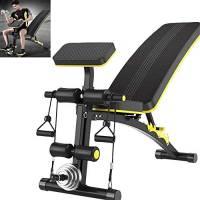 Luorizb Adjustable Bench Peso con Leg Extension E Leg Curl, Pieghevole Fitness Pesi manubri Panca, Palestra di casa Metalliche