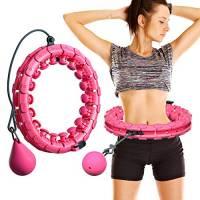 MOSRACY Hula Hoop Fitness Fitness Massage Hula Hoop Non Cade Yoga Hula Hoop Perdita di Peso artefatto Attrezzature Sportive Adatte per Adulti e Bambini (Palla Rosa + inerzia)