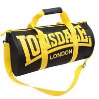 Lonsdale – Borsone tubolare da palestra e fitness Nero Black/Yellow taglia unica
