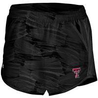 Under Armour – Maglietta NCAA Fly by Run Short, Donna, Fly By Run Short, Black OPITIC Feather, S