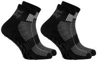 Rainbow Socks - Donna Uomo Sportive Calze Antiscivolo ABS di Cotone - 2 Paia - Negro - Tamaño UE 42-43