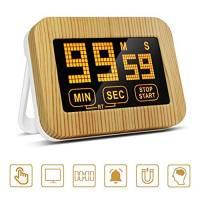 ZealBoom Timer Cucina Digitale Toccare Display LCD Schermo con Forte Supporto Magnetico Timer Elettronico Conto alla Rovescia Forte Sveglia Timer per Studio Allenamento Cuoco