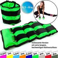 C.P.Sports Paio di Polsini di Peso per Polsi e Caviglie, 2X 2kg - Pesi per Braccia e Gambe Polsino di Peso (2,0kg)