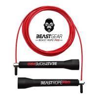 Beast Rope Pro da Beast Gear - Corda per Saltare a Velocità Avanzata per Fitness, Allenamento e Perdita di Peso. Ideale per Crossfit, Boxe, MMA, HIIT, Allenamento a Intervalli e Double Under