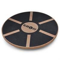 Klarfit balance board tavoletta propiocettiva kettler (fino a 150 KG, diametro 37,5cm, legno)