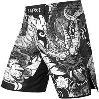 Lafroi QJK01 - Pantaloncini da boxe da uomo, con coulisse e tasca., Uomo, Drago, L