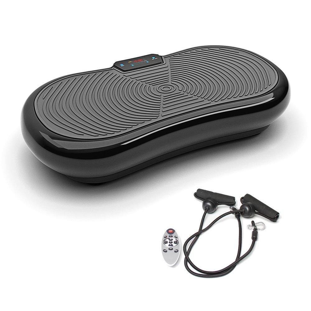 Bluefin Fitness Pedana Vibrante Ultra Slim   5 Programmi + 180 Livelli   Altoparlanti Bluetooth   Dimensioni Ridotte   Design Made in UK   Performance Durevole (Nero)