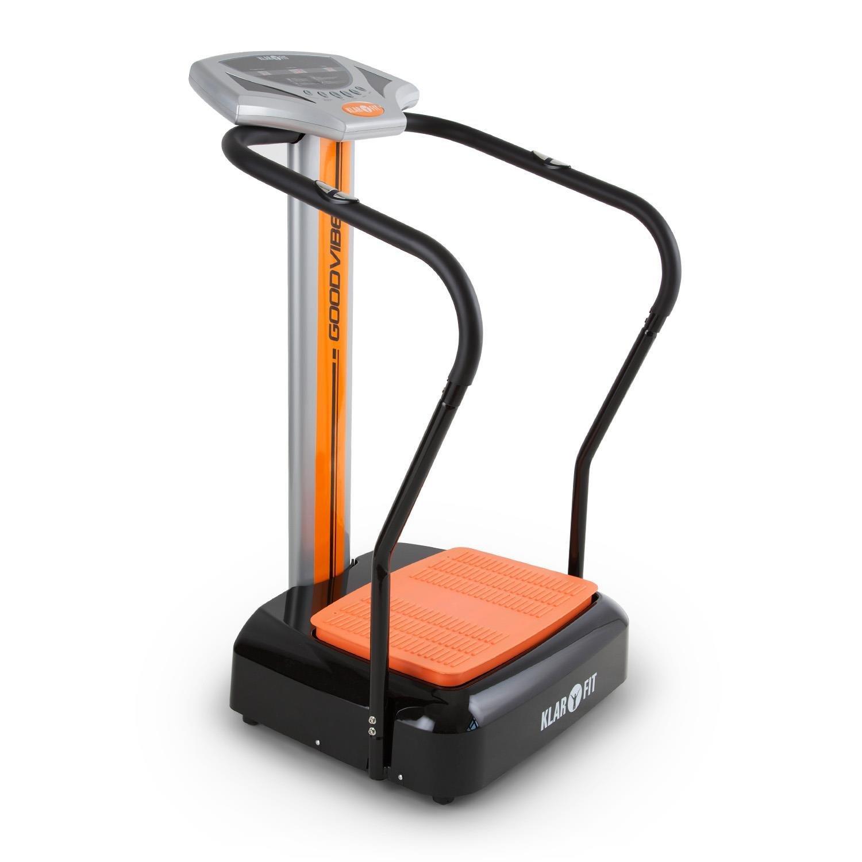 Klarfit Goodvibe pedana vibrante (100 livelli di velocità, computer di allenamento, cardiofrequenzimetro, display LCD, struttura compatta) - arancione