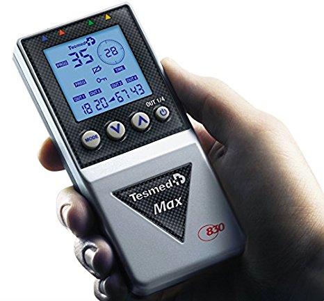 elettrostimolatore muscolare professionale Tesmed MAX 830 con 20 elettrodi : massima potenza, risultati rapidi e certificati, addominali, potenziamento muscolare, contratture e inestetismi
