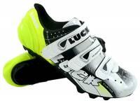 LUCK - Extreme 3.0 MTB, Scarpe da Ciclismo con Suola in Carbonio e Tripla Striscia di Fissaggio in Velcro