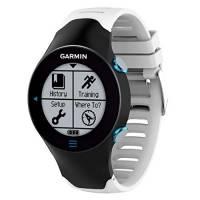 Yikamosi Compatibile con Garmin Forerunner 610 Cinturion,Morbido Silicone Watch Cinturion Stainless Steel Clasp Traspirante Sostituzione Cinghia per Garmin Forerunner 610(White)