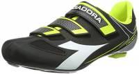 DiadoraTRIVEX II - Scarpe da Ciclismo Unisex - Adulto, Nero (black/white/yellow fluo3740), 40