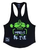 Alivebody Canotta Palestra Uomo Bodybuilding Senza Maniche Stringer Veste Cotone