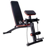 homcom Panca Addominali Panca Fitness Pesi Sit Up Multifunzionale Pieghevole 53 × 153 × 102cm