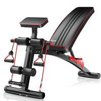Panca regolabile – Panca multifunzione per allenamento e fitness, 2 in 1, panca per addominali, perfetta per l'allenamento del corpo maschile.