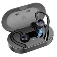 Axloie Auricolari Bluetooth Sport Senza Fili AXLOIE Cuffie Bluetooth 5.0 Impermeabili IPX7 con Hi-Fi Stereo CVC 6.0 Microfono Integrato 25 Ore di Riproduzione per Correre