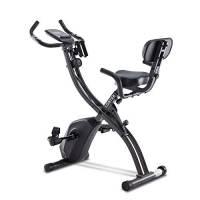 LONTEK Cyclette da Casa Pieghevole 3 in 1, Cyclette Pieghevole con Display LCD, Sensore di Pulsazioni, Cyclette da Camera a Resistenza Magnetica Regolabile a 8 Livelli, Peso Massimo 120 kg