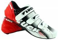 LUCK Scarpe da Ciclismo Evo, da Strada, con Suola in Carbonio, Molto rigide e Leggere e con Triplo Velcro. (45 EU)