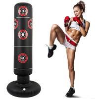 Ghopy 160 cm Sacco da Boxe da Terra Boxe Gonfiabile in PVC Taekwondo per Allenamento Adulti e Bambini