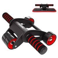 PROIRON Ab Roller Ruota Addominali per Esercizi con Supporto per Ginocchi Ruota Allenamento Muscle Ginnico per Ginnastica Home Fitness Crunch