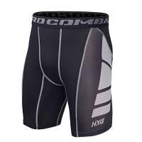 Hivexagon Pantaloncini a Compressione da Uomo a Mezza Coscia per Sport, Corsa e Allenamento Palestra SM008GYM