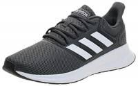 adidas Falcon, Scarpe da Corsa Uomo, Grigio (Grey/Footwear White/Core Black 0), 40 2/3 EU