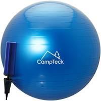 CampTeck U6764 Palla Fitness 65 cm con Migliorata Pompa a Mano Palla per Esercizi Ginnastica, Palestra, Yoga, Pilates ECC. – Unisex, Blu