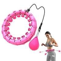 Bravekoi Hula Hoop, Hoop Fitness Adulti Regolabile e Staccabile, Portatile Exercise Hoop può Massaggiare Plasticità Perdita di Peso, Adatto per Principianti Bambini Adulti (Rosa)